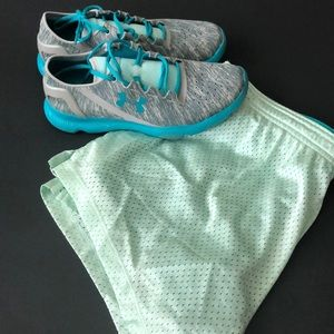 Teal shorts from VS Pink mesh with spandex Medium